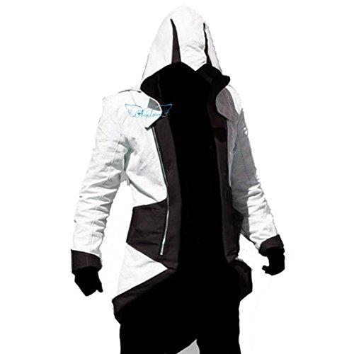 Angelaicos Unisex Color Block Match Windbreaker Coats Jackets Outwear Adult Kids (Kids L, White