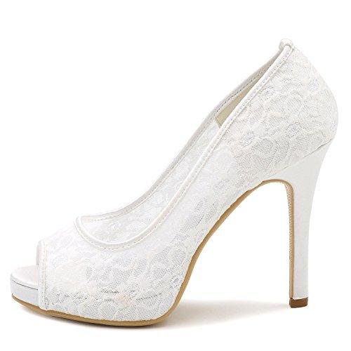 Champagner Party Frauen amp; Abend Schuhe Elobaby Elfenbein Hochzeit Spitzschuh Heels 11cmHeel High Fuchsia fUx0zqRw