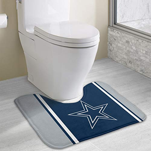 - Marrytiny Custom Colourful Non Slip U-Shaped Toilet Bath Rug Dallas Cowboys Football Team Anti-Bacterial Floor Contour Doormat Shower Mat Bathroom Carpet 19.3 x 15.7 Inches