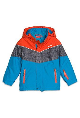 Rossi, Kinder Skijacke, 10.000er Wassersäule, Jungen, Größe 128, orange-türkis