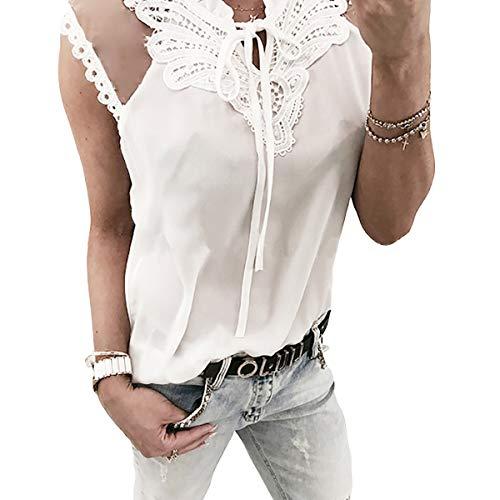 de Soie Manches en de Soie Mousseline en Courtes T Mousseline Manches White Courtes Shirts wq4HXTS