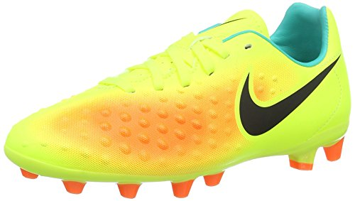 Nike Jr Magista Opus Ii Ag-Pro- Botas de Fútbol para Niños Amarillo (Volt / Black-Total Orange-Clear Jade)