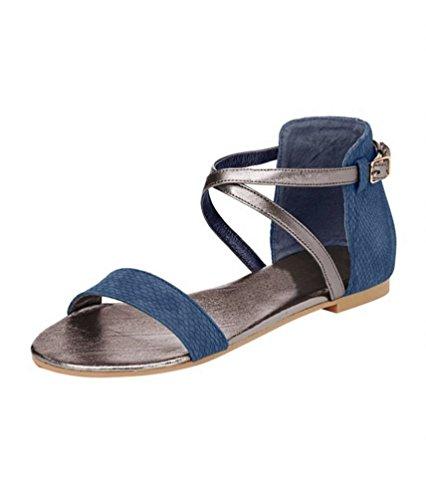 Femme Best Connections Sandale marques de style Sandales SNAKE Bleu