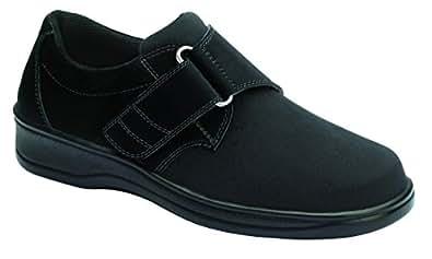 Orthofeet Wichita Women's Comfort Stretchable Orthopedic Orthotic Diabetic Velcro Shoes Black Synthetic 5 M US
