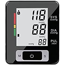 Fam-health Portable Wrist Blood Pressure Monitor FDA Approved with Large Display, Two User Modes, Adjustable Wrist Cuff,IHB Indicator and 90 Memory Recall 2019 Version (Black)