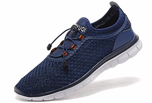 Sibaru Men's Walking Gym Sneakers Casual Athletic Comfortable Lightweight Running Shoes (MEN,41EU/8US, Blue)