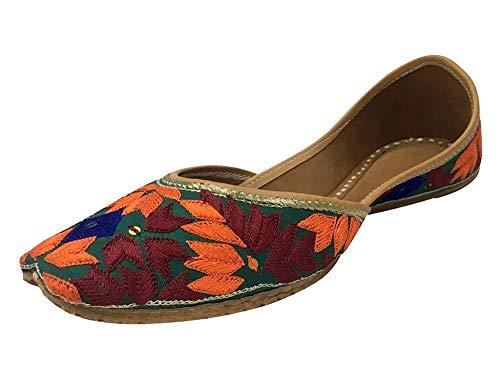 Payel Womens Pumps Style Colourful Shoes N Phulkari Step Indian Khussa Flat 4UqgqwT