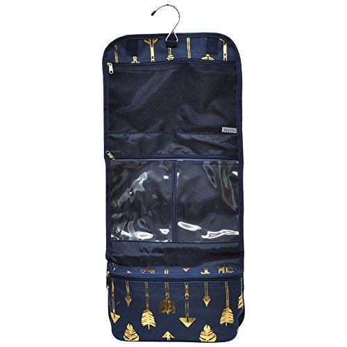 Gold Arrow Navy NGIL Toiletry Cosmetic /Jewelry Organizer Tr