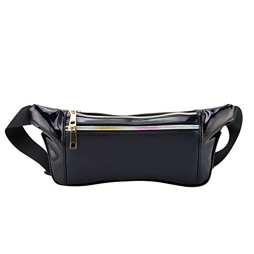 G-Fiend Women Waist Pack Holographic Shiny Fanny Pack Waterproof Fashion  Bum Bag for Travel 152db4378fdd