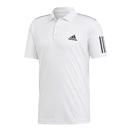 2633fd3a adidas 3-Stripes Club Polo Shirt, XXL/TTG, White/Black, Exercise ...