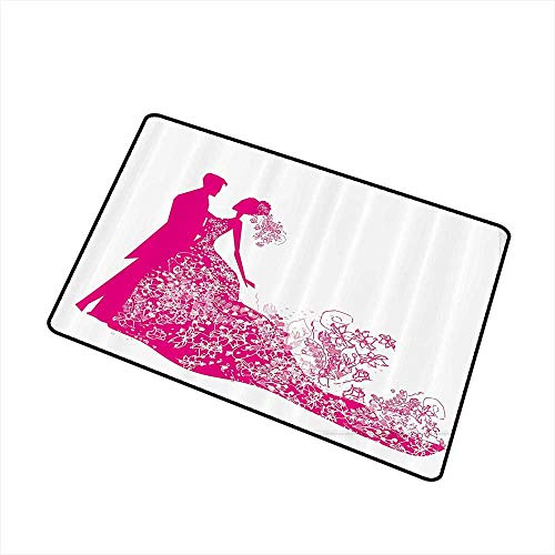 Mdxizc Pet Door mat Wedding Decorations Dancing Couple