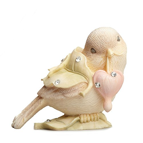 Enesco Foundations by Karen Hahn Bird with Heart Figurine, 1.97-Inch