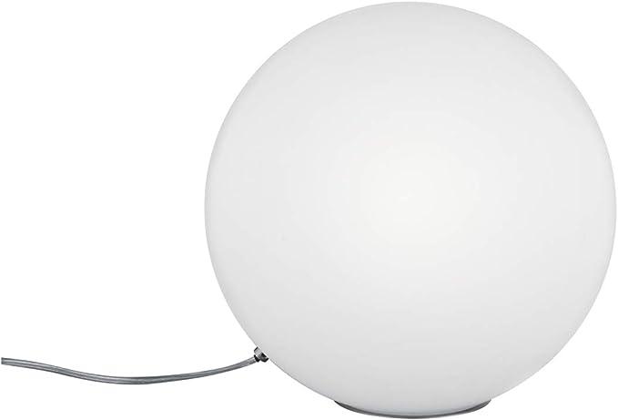 Lámpara de mesa con forma de bola de cristal (metal mate y cristal ...