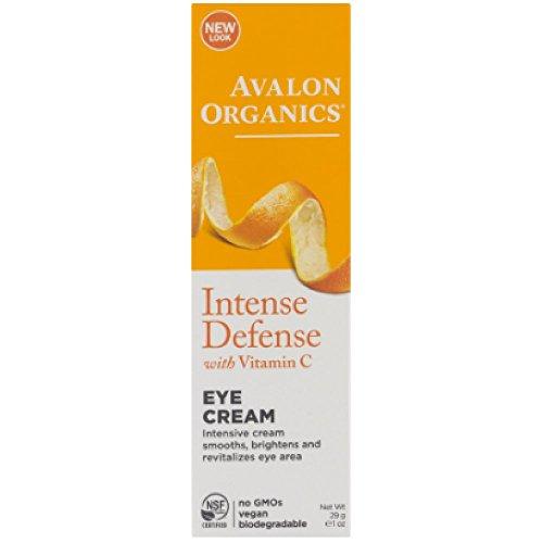 Avalon Organics Vitamin C Revitalizing Eye Creme, 1 Ounce Bottles (Pack of 2)