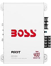 Boss Audio Riot Series 400-Watt 4-Channel Marine Class AB Amp, Silver, bridgeable = None | Channels - Available = 4 | wat (MR1004)