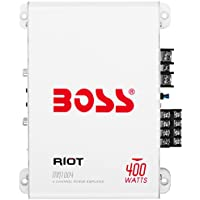 BOSS Audio MR1004 Marine Grade 400 Watt, 4 Channel, 2/4 Ohm Stable Class A/B, Full Range, Amplifier