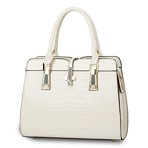 Portatile Sacchetto Singolo Bianco Moda Crema Di Diagonale Alla Spalla Donna xqf6ZHTx