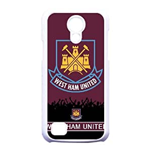 High West Ham United Football Club Logo Design Durable Phone Accessory Premier League,TPU Phone case for Samsung Galaxy S4 Mini i9190,white
