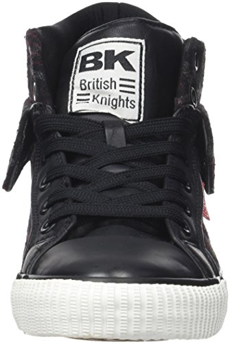 British Knights Herren ROCO Hohe Sneaker Noir (Black/Red Check)