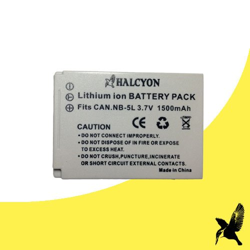 (Halcyon 1500 mAH Lithium Ion Replacement Battery for Canon PowerShot ELPH SD950 IS 12.1 MP Digital Camera and Canon NB-5L)