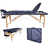 Black PU Reiki Portable Massage Table w/Carry Case U9