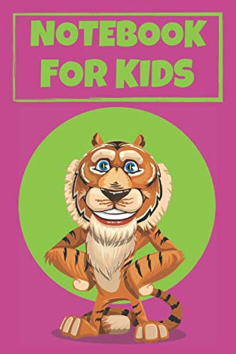 Notebook For Kids: Cute Tiger Notebook/Journal for Adults/Children Animals Lovers to Writing (6x9 Inch. 15.24x22.86 cm.) Lined Paper 120 Blank Pages (PURPLE&GREEN&BLUE&ORANGE Pattern)
