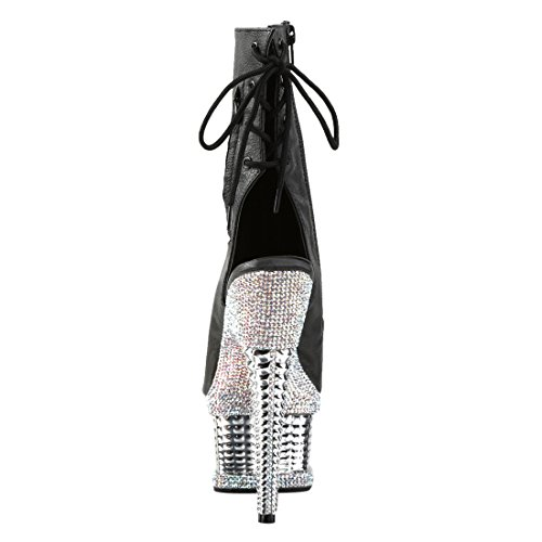 Illusion Pleaser 1018rs Blk Leather slv Faux rs Chrome ZwBqwrdxnv