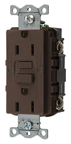 Bryant Electric GFRST15 15 Amp 125V Commercial/Residential Self Test Duplex GFCI Receptacle, Brown ()
