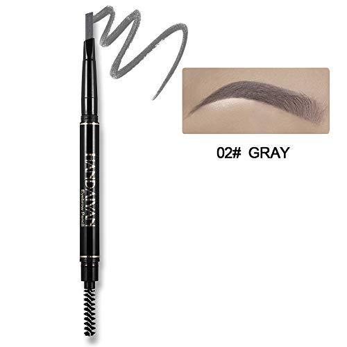 Eyebrow Pencil Waterproof Microblading Pen Crayon Sourcils Black Gray Brown Automatic Eye Makeup Pencil & Brow Brush 02 Gray