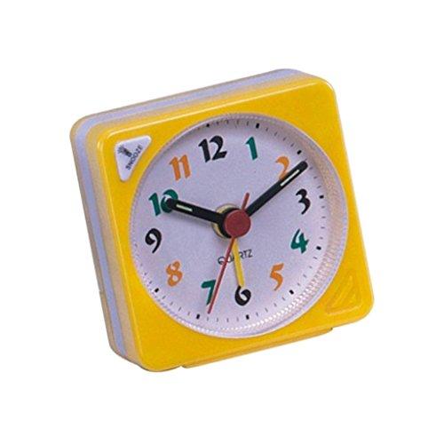Clock Brighton - Baoblaze Ascending Sound Tiny Travel Alarm Clock With Snooze Nap And Light - Yellow