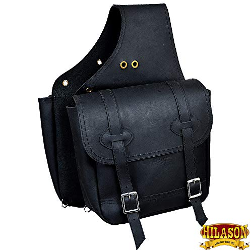 HILASON Leather Chap Leather Horse Saddle Bag for Trail