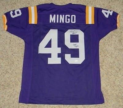Barkevious Mingo Signed Autographed Lsu Tigers #49 Purple Jersey ...