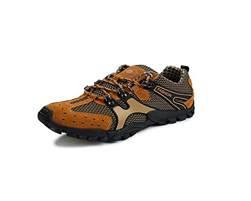ffd88888c7e7 sadness n Men s Boating Water Trail Shoes Sneakers for Climbing Hiking  Outdoor(Brown-Lable 39 6 D(M) US Men)