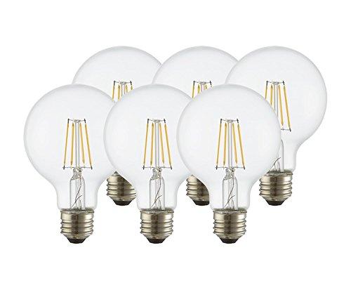 Clear Globe Led Light Bulbs - 8