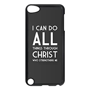 Design Case Cute Jesus Christ Cross Bible Quotes Print on Hard Plastic Back Case Cover iphone 4/4s touch 5 Case Perfect as Christmas gift(5)