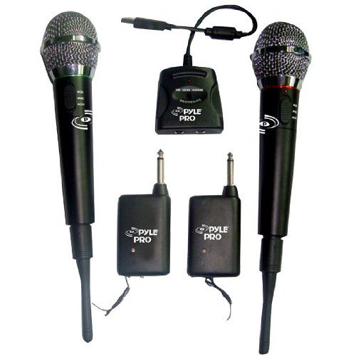Pair of 2.4 Ghz. Wireless Microphones - For Rockband, Singstar, World Tour, Boogie, Sing It, Etc.
