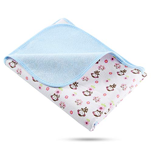 Elf Star Cotton Bamboo Fiber Breathable Waterproof Underpads Mattress Pad Sheet Protector, Monkey Print, 1 Pad 27