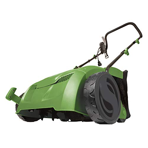 MARTHA STEWART MTS-DTS13 13-Inch 12-Amp Electric 5-Position Scarifier and Lawn Dethatcher, Bay Leaf Green (Best Electric Lawn Scarifier)