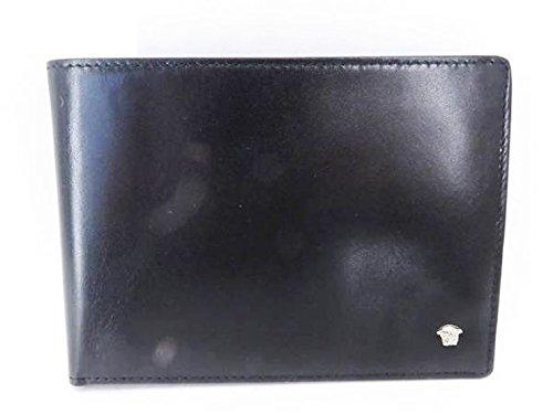 fce0c2cd5737 Amazon | (ジャンニ ヴェルサーチ)Gianni Versace 二つ折り 札入れ 財布 レザー ブラック 黒 メンズ 中古 | Gianni  Versace(ジャンニ ヴェルサーチ) | 財布