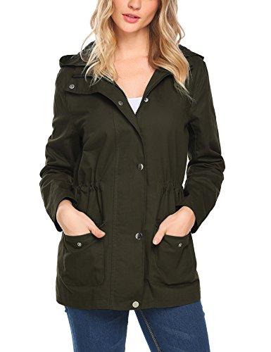 Beyove Women's Military Anorak Utility Classic Safari Jacket with Pockets