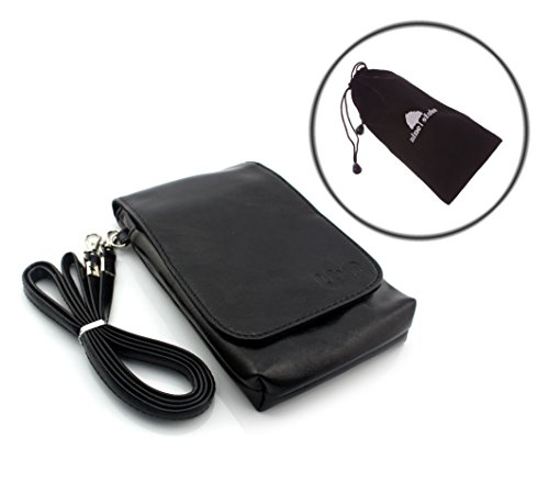 iPhone 6 6 Plus Case, Note 4 Case,S6 S6 Edge Case, Nine States Universal Multifunctional PU Leather Mini Mobile Phone Bag Pouch/Purse with Shoulder Strap and Magnetic Button for iPhone 6 6 Plus iPhone 5 5S 5C iPhone 4 4S Samsung Galaxy Note4 Note3 Note2 HTC and Other Phone Types Under 5.5 inches (Black)