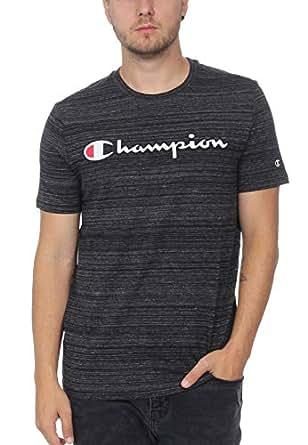 Crewneck T-Shirt For Men, Charcoal, S