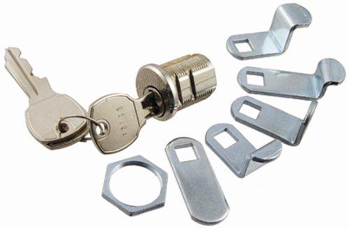 Park Supply of America 97-16 Mailbox Lock, Bright Nickel
