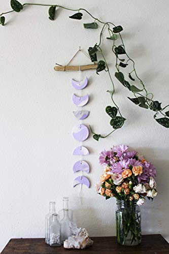 Purple & White Moon Phase Wall Hanging