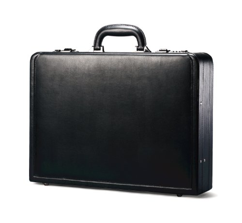 (Samsonite Bonded Leather Attache, Black)