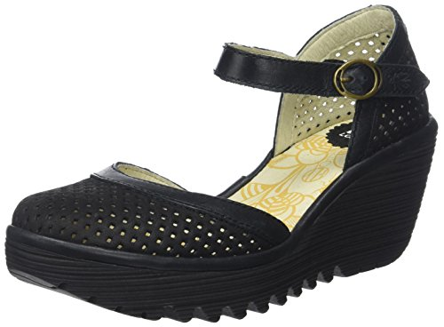 Fly London Women's Yupi840fly Closed Toe Heels Black (Black/Black) 2014 newest sale eastbay free shipping lowest price CGB2m9