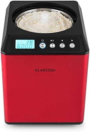 Klarstein Vanilla Sky Red Edition - Heladera, Máquina para hacer ...
