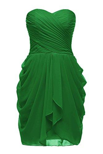 Cocktail En Mousseline De Soie De Femmes Dys Chérie 2016 Robe Courte Robes De Demoiselle D'honneur Vert