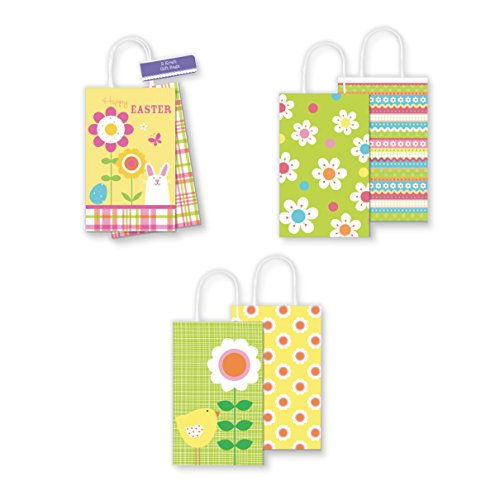 - Pack of 6 Small Kraft Easter Gift Bags - Perfect Size for Cute Gifts and Sweet Treats