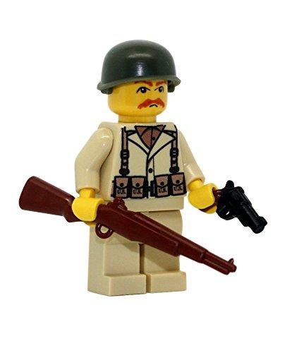 Modern Brick Warfare US Army American WW2 M1 Garand Soldier Custom Minifigure